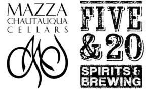 Mazza Chautauqua Cellars / Five & 20 Spirits & Brewing Logo
