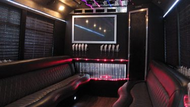 Inside of a Ford Limo