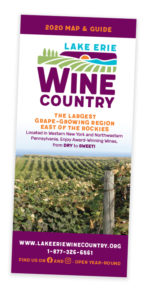 Lake Erie Wine Country Map and Guide Brochure Cover