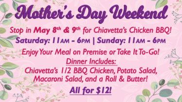Mother's Day Weekend Chiavetta's Chicken BBQ