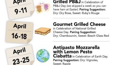 Grilled PB&J with Courtyard Winery